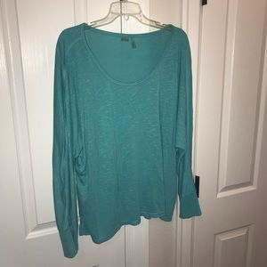 Zella Relaxed Top, Turquoise